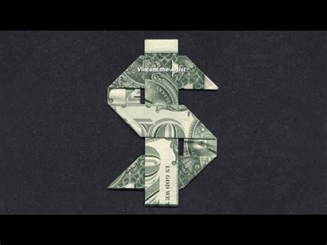 origami sign money origami dollar sign