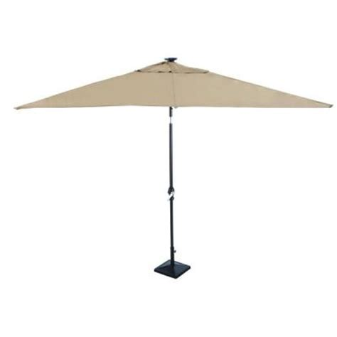 home depot patio umbrellas astonica 9 ft rectangular solar powered patio umbrella in