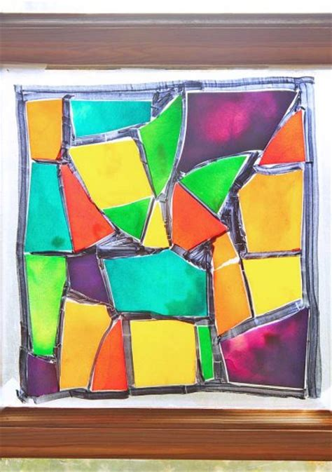 stained glass crafts for stained glass pasta family crafts