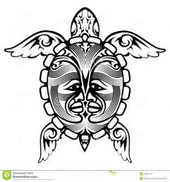 tribal totem animal turtle tattoo stock vector image