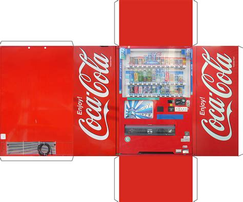 paper crafting machines vending machine obsessive creates papercraft version of