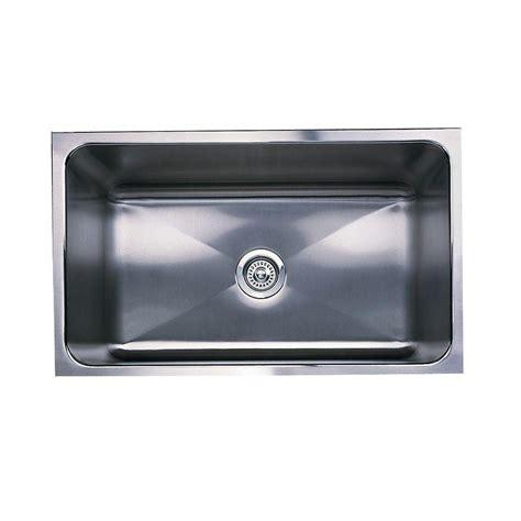 single basin stainless steel undermount kitchen sink blanco magnum undermount stainless steel 31 in single