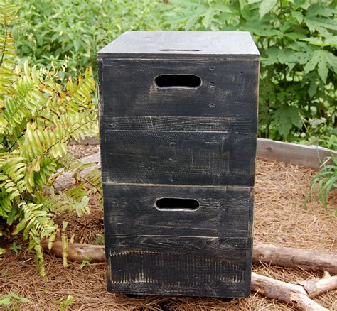distressed wood filing cabinet 301 moved permanently