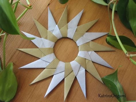 origami 16 point origami die kunst des papierfaltens 16point mandala