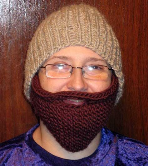 knitted beard knitted beard hat pattern a knitting