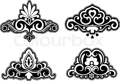 Home Textile Design Jobs flower patterns and borders for design and ornate stock