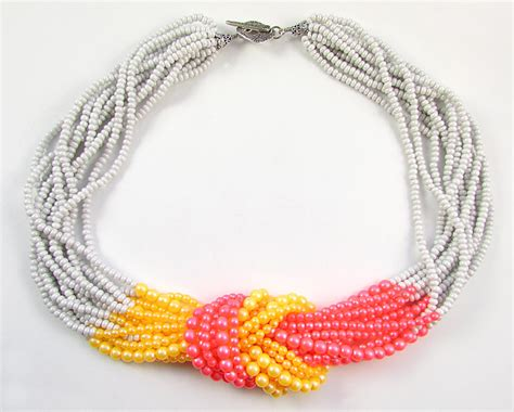 seed bead necklace two ways to finish a multi strand seed bead necklace