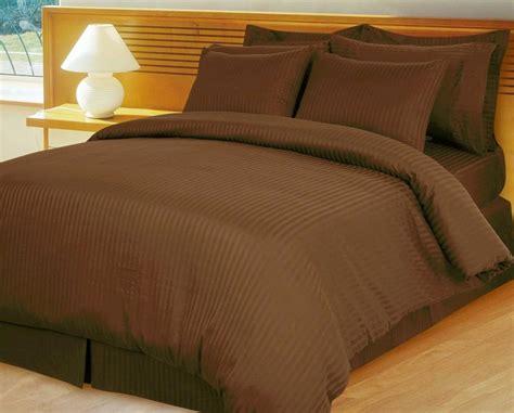 chocolate brown comforter set home opulent decor brown damask stripe comforter