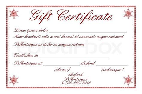 illustration of gift certificate on white background