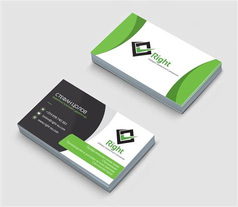 card company design of corporative business cards creatica studio