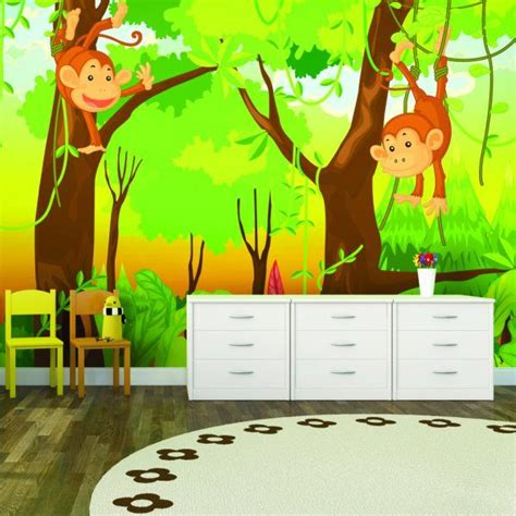 monkey wallpaper for walls 10 best images about jungle bedroom ideas on