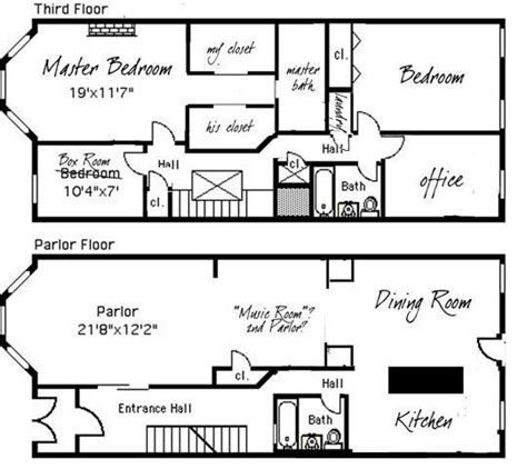 row home floor plan brownstone row house floor plans search