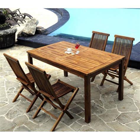 Table En Resine 3669 by Salon En Teck Huil 233 4 Places Ensemble De Jardin En Promotion