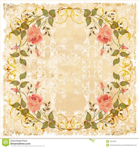 vintage card vintage greeting card stock vector image of grubby