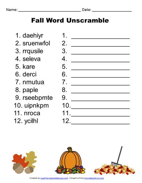 word unscrambler for scrabble free printable fall word unscramble
