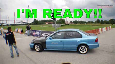 Honda Civic Drag Race by Honda Civic Ek Drag Race The Blue Dragtimes2u