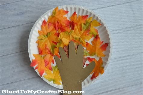 paper plate fall crafts paper plate fall tree kid craft
