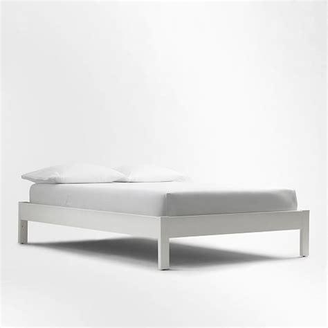 bed frame white simple bed frame white west elm