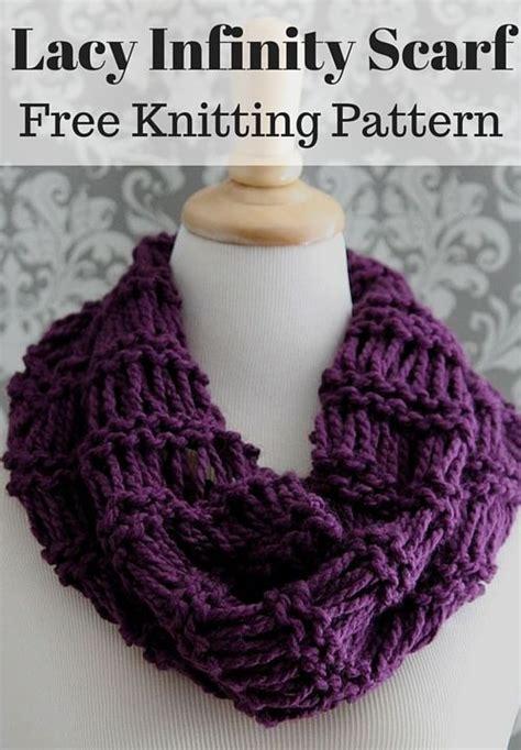 free easy infinity scarf knitting pattern oltre 1000 immagini su sew crochet knit galore su