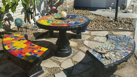 mosaic tile patio table glass or ceramic tile for mosaic patio table how to mosaic