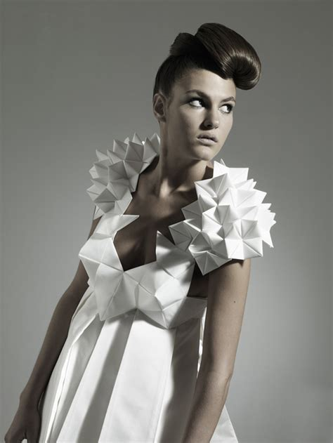 origami inspired dress couture elegance nintai origami inspired geometric dresses
