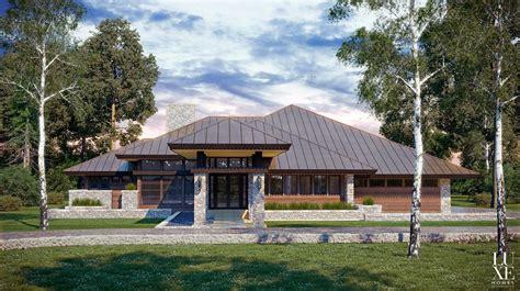 modern style house plans chic modern prairie style house plans house style design