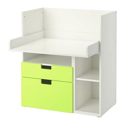 ikea white desk with drawers stuva desk with 2 drawers white green ikea