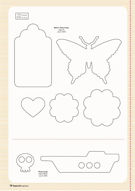make a card free and print free templates from issue 128 papercraft inspirations