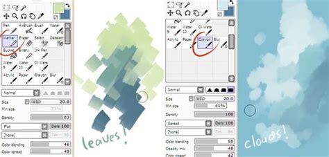 paint tool sai cloud brush 1000 images about paint tool sai on coloring