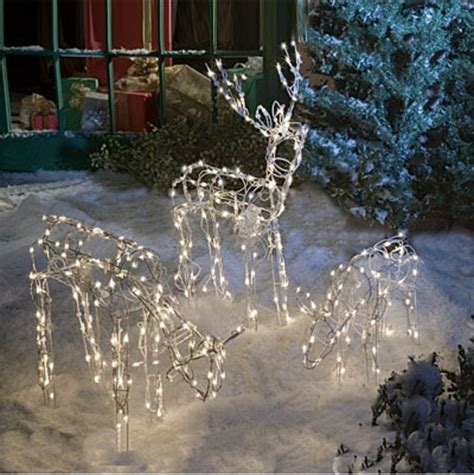 lighted reindeer decorations animated lighted reindeer family set 3 yard