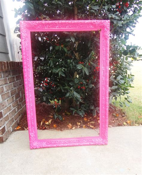 spray painting frames large picture frames spray painted pink diy
