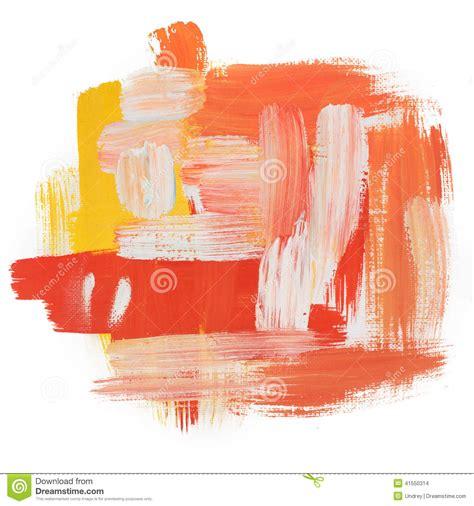 acrylic painting no brush strokes gouache acrylic paint brush dab stroke stock