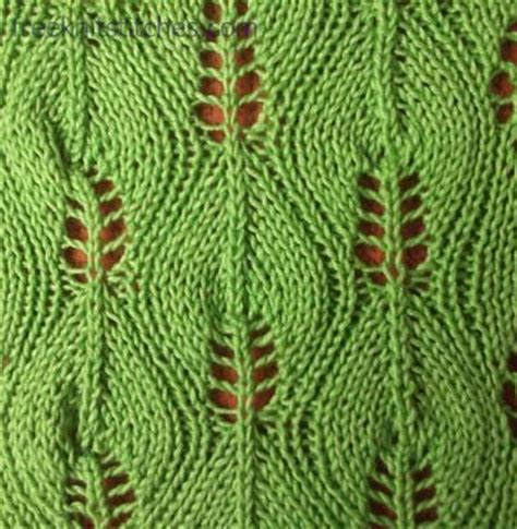 how to knit a leaf shape birch knitting stitches knitting stitch patterns