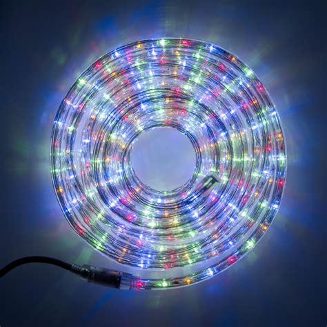 outdoor led rope lights 8m multi coloured led rope light indoor outdoor use