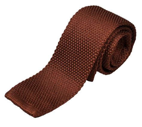 brown knit brown knit tie by paul malone kn678