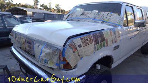 spray painting a car spray paint a car diy aerosol can color match fail
