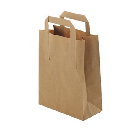with paper bags small brown paper takeaway bags with handles pk 25