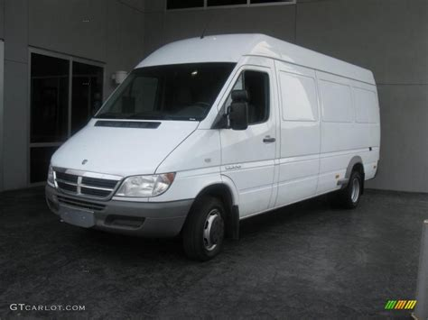 2006 Dodge Sprinter by 2006 Arctic White Dodge Sprinter 3500 High Roof Cargo