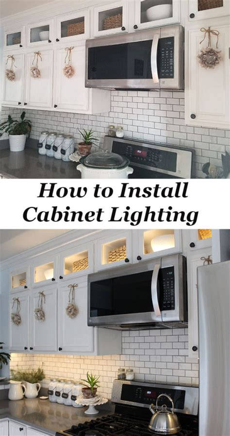 how to install cabinet lights how to install kitchen cabinet lighting the honeycomb home