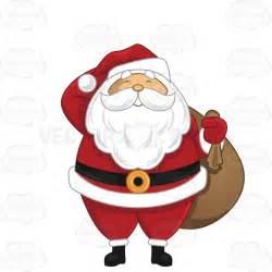 large santa happy santa claus holding a large sack his shoulder