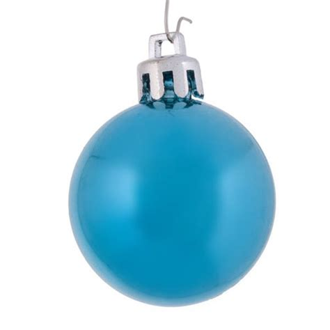 turquoise baubles light turquoise baubles shiny shatterproof pack of 18 x