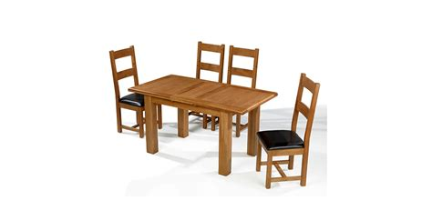 oak extending dining table and chairs emsworth oak 132 198 cm extending dining table and 4