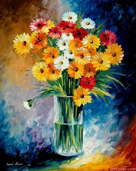 flower painting 40 beautiful and realistic flower paintings for your