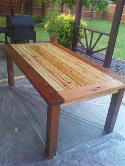 cedar patio table plans woodwork cedar outdoor dining table plans pdf plans