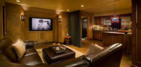 Ideas For A Small Kitchen Remodel l shaped couch basement traditional with bar brown leather