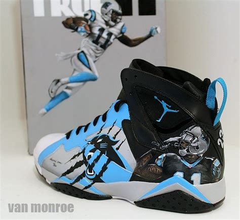 angelus paint on vans custom air for carolina panthers brandon lafell by
