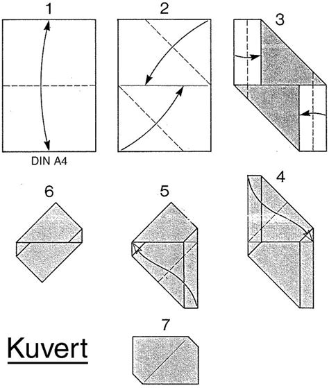 easy origami for using a4 paper kuvert envelope from a4 paper origami paper