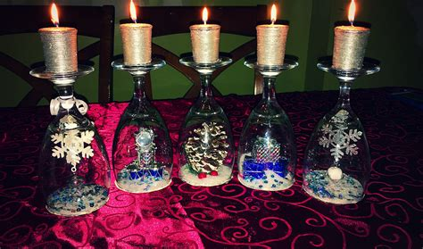 wine glass crafts wine glass candle craft a magical