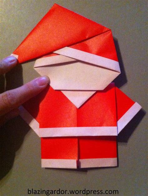 origami santa clause origami santa how to guide