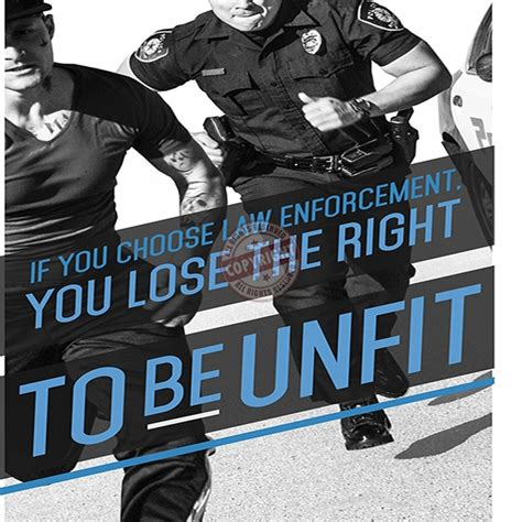 Picture Frame Wall Sticker police fitness motivation poster